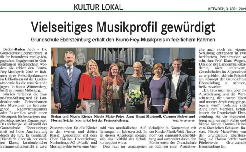 Preisverleihung in Ochsenhausen am 31.03.19